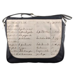 German French Lecture Writing Messenger Bags