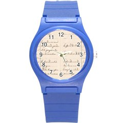 German French Lecture Writing Round Plastic Sport Watch (s) by Nexatart