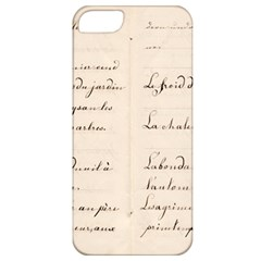 German French Lecture Writing Apple Iphone 5 Classic Hardshell Case