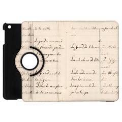 German French Lecture Writing Apple Ipad Mini Flip 360 Case