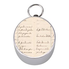 German French Lecture Writing Mini Silver Compasses
