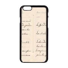 German French Lecture Writing Apple Iphone 6/6s Black Enamel Case