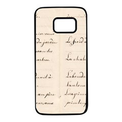 German French Lecture Writing Samsung Galaxy S7 Black Seamless Case by Nexatart