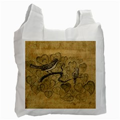 Birds Figure Old Brown Recycle Bag (one Side) by Nexatart