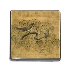 Birds Figure Old Brown Memory Card Reader (square)