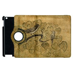 Birds Figure Old Brown Apple Ipad 3/4 Flip 360 Case