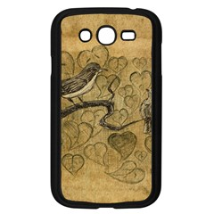 Birds Figure Old Brown Samsung Galaxy Grand Duos I9082 Case (black)