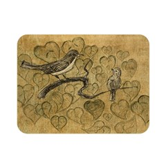 Birds Figure Old Brown Double Sided Flano Blanket (mini)  by Nexatart