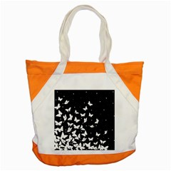 Butterfly Pattern Accent Tote Bag by Valentinaart