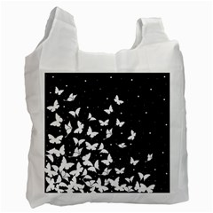 Butterfly Pattern Recycle Bag (two Side)  by Valentinaart