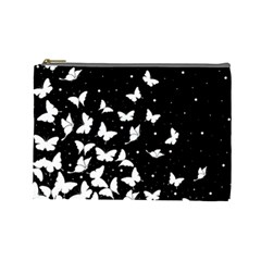 Butterfly Pattern Cosmetic Bag (large)  by Valentinaart