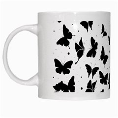 Butterfly Pattern White Mugs by Valentinaart