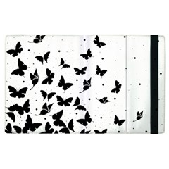 Butterfly Pattern Apple Ipad 2 Flip Case by Valentinaart