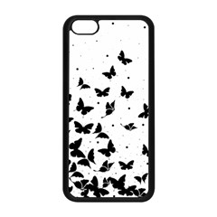 Butterfly Pattern Apple Iphone 5c Seamless Case (black)