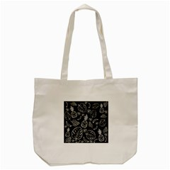 Tropical Pattern Tote Bag (cream) by Valentinaart