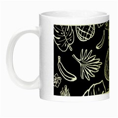 Tropical Pattern Night Luminous Mugs by Valentinaart