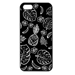 Tropical Pattern Apple Iphone 5 Seamless Case (black) by Valentinaart