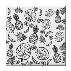 Tropical Pattern Face Towel by Valentinaart
