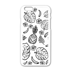 Tropical Pattern Apple Iphone 6/6s White Enamel Case by Valentinaart