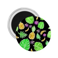 Tropical Pattern 2 25  Magnets by Valentinaart