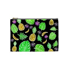 Tropical Pattern Cosmetic Bag (medium)  by Valentinaart