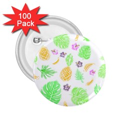 Tropical Pattern 2 25  Buttons (100 Pack)  by Valentinaart