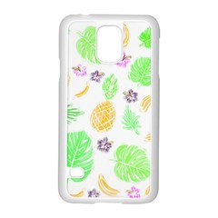 Tropical Pattern Samsung Galaxy S5 Case (white)