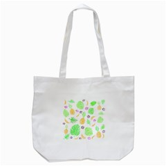 Tropical Pattern Tote Bag (white) by Valentinaart