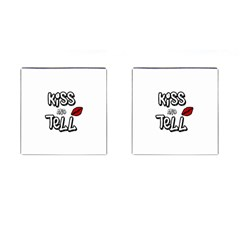 Kiss And Tell Cufflinks (square) by Valentinaart
