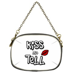 Kiss And Tell Chain Purses (two Sides)  by Valentinaart
