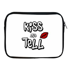 Kiss And Tell Apple Ipad 2/3/4 Zipper Cases by Valentinaart