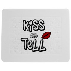 Kiss And Tell Jigsaw Puzzle Photo Stand (rectangular) by Valentinaart