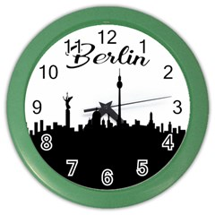 Berlin Color Wall Clocks by Valentinaart