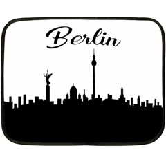 Berlin Double Sided Fleece Blanket (mini)  by Valentinaart