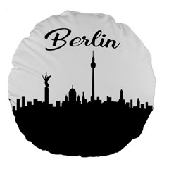 Berlin Large 18  Premium Round Cushions by Valentinaart
