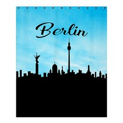 Berlin Shower Curtain 60  X 72  (medium)  by Valentinaart