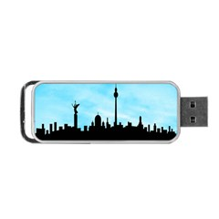 Berlin Portable Usb Flash (two Sides)