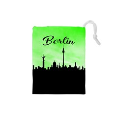 Berlin Drawstring Pouches (small)  by Valentinaart