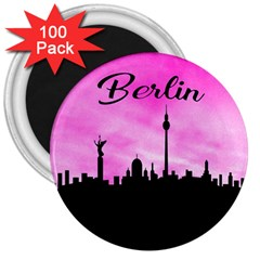 Berlin 3  Magnets (100 Pack) by Valentinaart