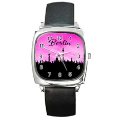 Berlin Square Metal Watch by Valentinaart