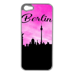 Berlin Apple Iphone 5 Case (silver) by Valentinaart