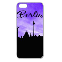 Berlin Apple Seamless Iphone 5 Case (clear) by Valentinaart
