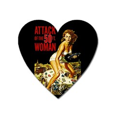 Attack Of The 50 Ft Woman Heart Magnet by Valentinaart