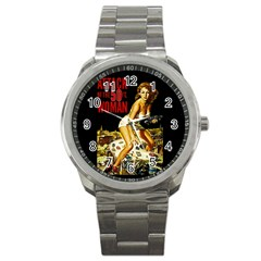 Attack Of The 50 Ft Woman Sport Metal Watch by Valentinaart