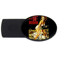 Attack Of The 50 Ft Woman Usb Flash Drive Oval (4 Gb)