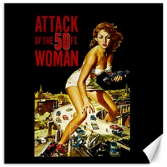Attack Of The 50 Ft Woman Canvas 12  X 12   by Valentinaart