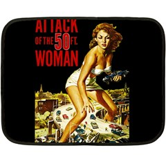 Attack Of The 50 Ft Woman Double Sided Fleece Blanket (mini)  by Valentinaart