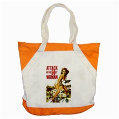 Attack Of The 50 Ft Woman Accent Tote Bag by Valentinaart