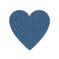 Hexagon1 Black Marble & Blue Colored Pencil (r) Magnet (heart) by trendistuff