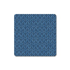 Hexagon1 Black Marble & Blue Colored Pencil (r) Magnet (square) by trendistuff